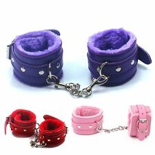 Soft Leather Handcuffs Hand Ring Restraints Bondage ankle cuffs colors