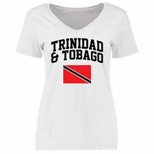 Trinidad & Tobago Women's Flag Slim Fit T-Shirt - White - Country Flags