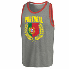 Men's Fanatics Apparel Ash/Red Portugal Spirit Tank Top - Country Flags
