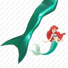New Kid Girl Adult Women Sparkle Scale Mermaid Tail Monofin Swimmable Tail Green