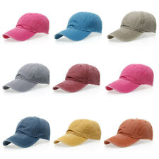 Men Women Washed  Adjustable Baseball Cap Hip-Hop Snapback Hat Trucker Cap New
