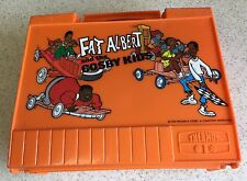 Complete 1973 Fat Albert Cosby Kids Orange Thermos Lunchbox with Christmas Video