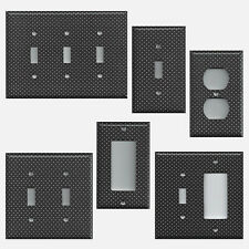 Black with Small White Polka Dots Light Switchplates & Outlet Covers