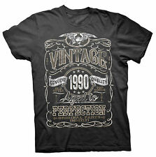 Vintage Aged To Perfection 1990 - Distressed Print - 26th Birthday Gift T-shirt