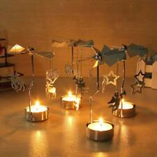 Rotary Spinning Carousel Tea Light Candle Holder Xmas Gift Table Home Decor