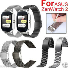 Milanese Stainless Steel Quick Release Watch Band Strap for ASUS ZenWatch 2