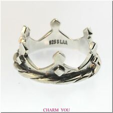 AUTHENTIC TROLLBEADS CROWN RING STERLING SILVER