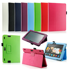 """Amazon Kindle Fire HD 8.9"""" inch Leather Folio Case Cover Stand Wake/Sleep New"""