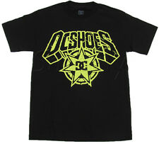 Dc Shoes Mens Brookie Tee Shirt Black T-shirt with Yellow Logo