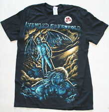 Avenged Sevenfold Band Girls T-Shirt Gargoyle Knife Wings Skull Slim fit Tee M