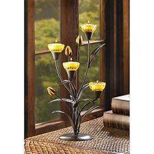 BULK LOTS Yellow Tiger Lilies Tealight Candelabras Candle Holders