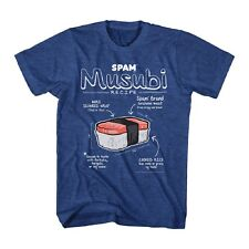 Canned Hormel can of Spam Musubi Diagram meat food Adult T-Shirt Tee