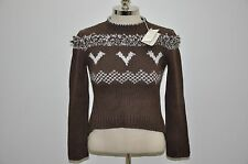 Brunello Cucinelli Made in Italy Heavy Knit 100% Cashmere Crewneck Sweater
