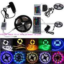 3528 5050 SMD 5/10/15M Flexibl Light LED Strip 12V Power Adapter RGB 24/44Keys