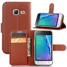Luxury Wallet PU Leather Flip Stand Case Cover for Samsung Galaxy J1 Mini J105
