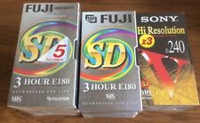 12  X Three Hour Video Tapes Sony HD and Fuji SD New And Factory Sealed