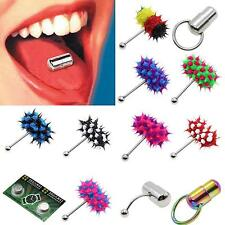 Silicone Stainless Steel Vibrating Massage Tongue Bar Ring Stud Piercing Jewelry