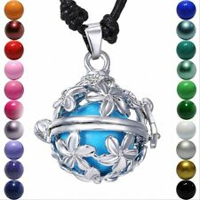 Silver Daisy Flower Hollow Locket Pendant Harmony Ball Aromatherapy Necklace NEW