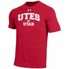 Utah Utes Under Armour On-Field Tri-Blend T-Shirt - Red - NCAA