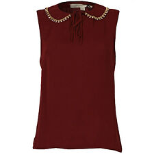 Glamorous Gold Neck Fashion Top In Burgundy From Get The Label