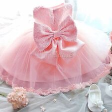 Flower Girls Princess Toddler Baby Wedding Party Pageant Tutu Bow Dres Birthday
