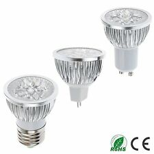 12w MR16/E27/GU10 (4Led) LED Light Lamp Spotlight Warm Cool White Bulb Downlight