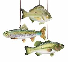 Choose Colorful Bass Brim or Rainbow Trout Christmas Tree Ornament resin