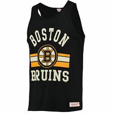 Boston Bruins Mitchell & Ness Arch Logo Tank Top - Black - NHL