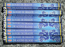 Hem Dragon's Blood Blue Incense-20-40-60-80-100-120 Sticks  You Pick Amount