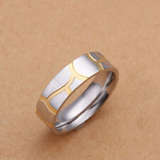 Women'&men's Gold Plated Ring Couples Ring Size 6,7,8,9,10 18K Plated Ring R51