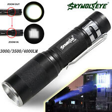 3000/3500/4000LM Zoomable CREE XM-L Q5 LED Flashlight 3 Mode Torch Light Lamp