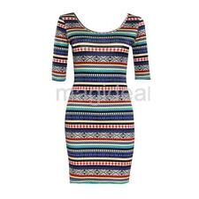 SEXY WOMEN SHORT SLEEVE SUMMER LADIES BODYCON PARTY EVENING MINI DRESS