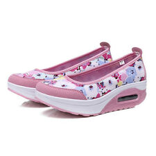 Lady's Slip On Trainers Athletic Shoes Summer Floral Sneakers Platform Loafers