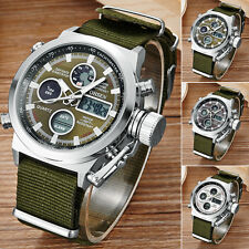 OHSEN Mens Army Military Dual Time Backlight Date Sport Quartz Wrist Watch Gift