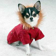 Casual Canine RED Hooded Cabin Dog Coat CLEARANCE! HURRY! LIMITED SIZES!