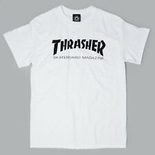 SP Thrasher Logo T-Shirt White Black skate