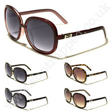 NEW D.G Womens Large Vintage Dark Red &  Pink Celebrity Sunglasses