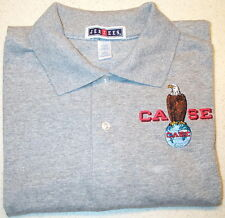 Mens Case Eagle Embroidered Polo Shirt w/Pocket (4 colors)