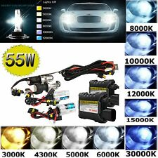 55W HID Xenon Headlight Conversion KIT Bulbs light Ballast H1/H3/H4/H7/9005/9006