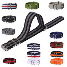 Rings Buckle 16mm 18mm 20mm 22mm 24mm Nylon Watch Strap Wristwatch Band
