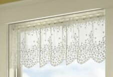 Country Floral Blossom Valance by Heritage Lace, 42x15, Choose White or Ecru