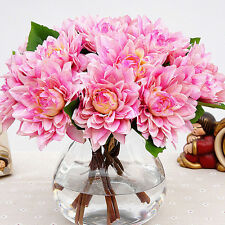 3 Heads Artificial Silk Peony Flowers Bridal Hydrangea Party Wedding Decor Home
