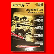 REEVES FULL SIZE / A4 HIPPO SCRAPERFOIL GOLD FOIL ENGRAVING ART SCRAPER
