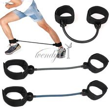 Leg Thigh Fitness Exercise Latex Resistance Rubber Band Ankle Straps Training