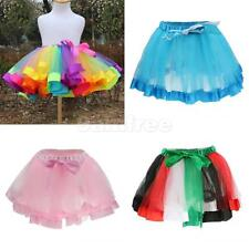 Girls Childrens Kid Dance Tutu Skirt Pettiskirt Ballet Dress Fancy Costume Color