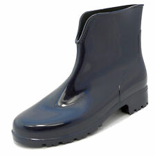 Ladies Womens Stormwells Blue Shiny Ankle Wellies Wellington Boots Sizes 3-8