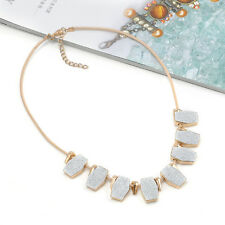 Exquisite Crystal Matte Charm Pendant Chain Choker Chunky Bib Jewelry Necklace