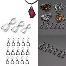 20Pcs Mixed& Silver/Gold Plated Findings Bail Connector Bale Pinch Clasp Pendant