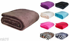 New Luxury Mink Fur Sofa Bed Throw Soft Blanket, Settee, Super Soft Fur, 2 Sizes