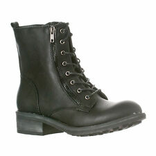 Riverberry Women's Zoe Mid-Calf Military Lace Up Combat Boots